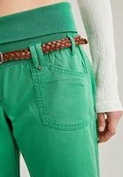 Bayan Yeşil Beli Lastikli Bol Paça Pantolon
