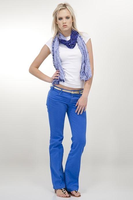 Mavi Bol Paça Pantolon