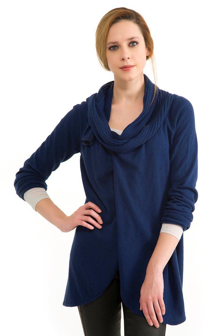 Bayan Mavi Hırka
