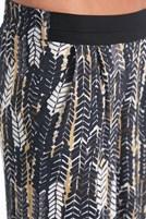 Bayan Çok Renkli Desenli Bol Rahat Pantolon