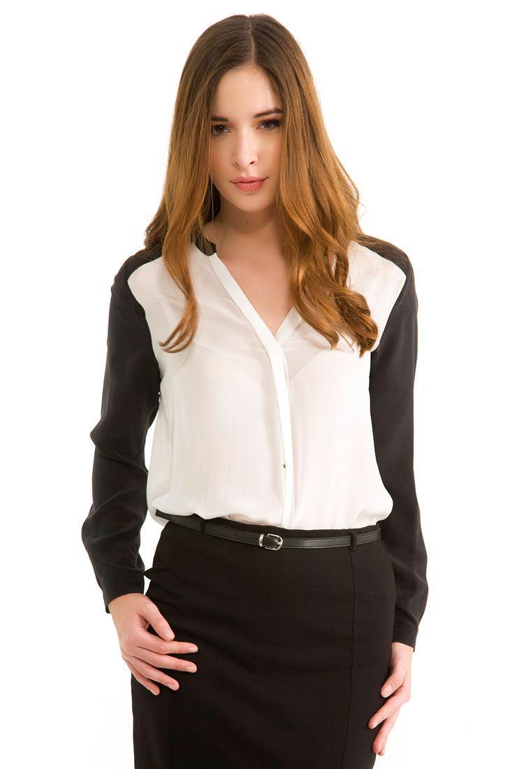Bayan Krem İpek Gömlek