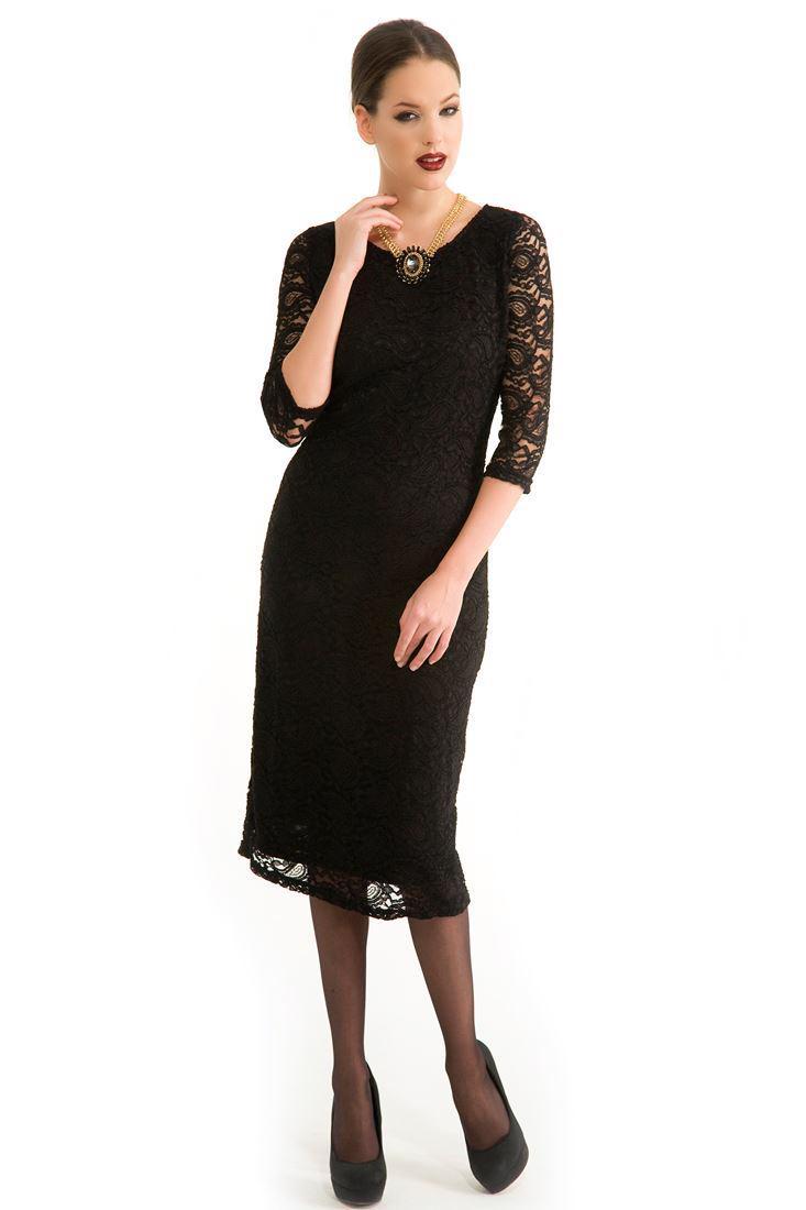 62fa5bd42803a Siyah Dantelli Elbise Online Alışveriş 13KOX-NOVLACEUZ | OXXO