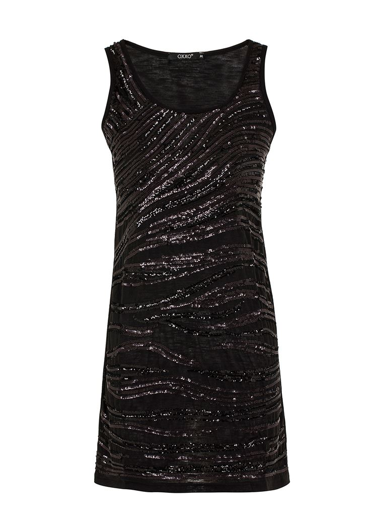 Siyah Pullu Kokteyl Elbisesi