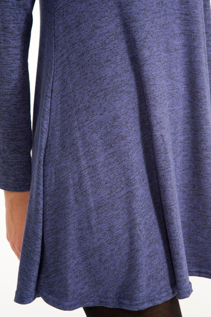 Bayan Lacivert Boğazlı Kısa Elbise