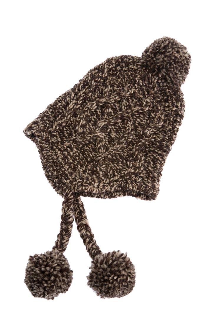Kahverengi Örgü Bere
