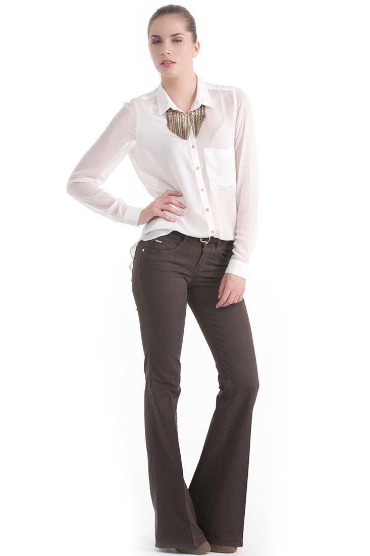 Bayan Yeşil Geniş Paça Pantolon
