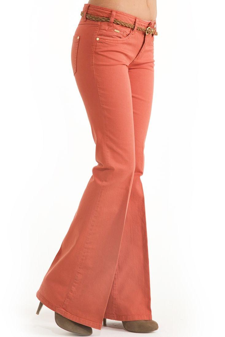 Turuncu Geniş Paça Pantolon