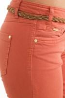 Bayan Turuncu Geniş Paça Pantolon