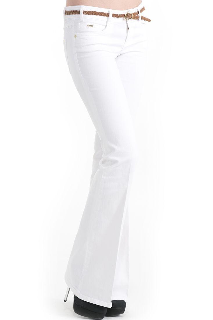 Beyaz Geniş Paça Pantolon