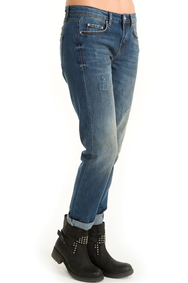 Blue Boyfriend Denim Pants