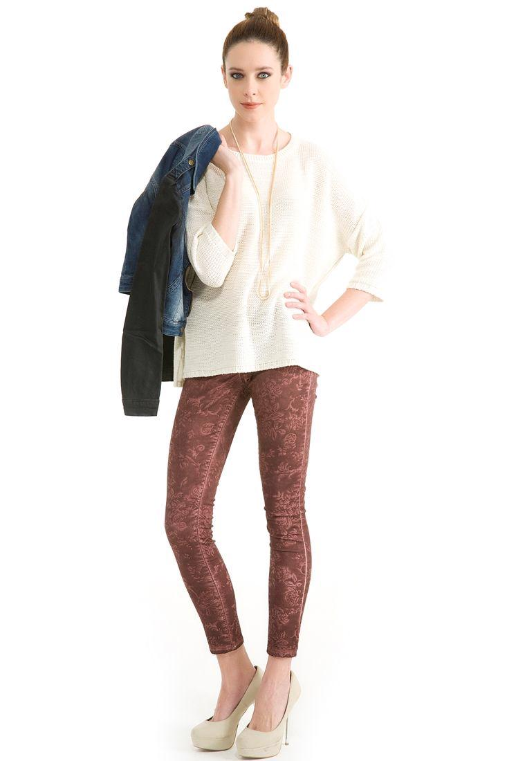Bayan Mor Dar Kesim Pantolon