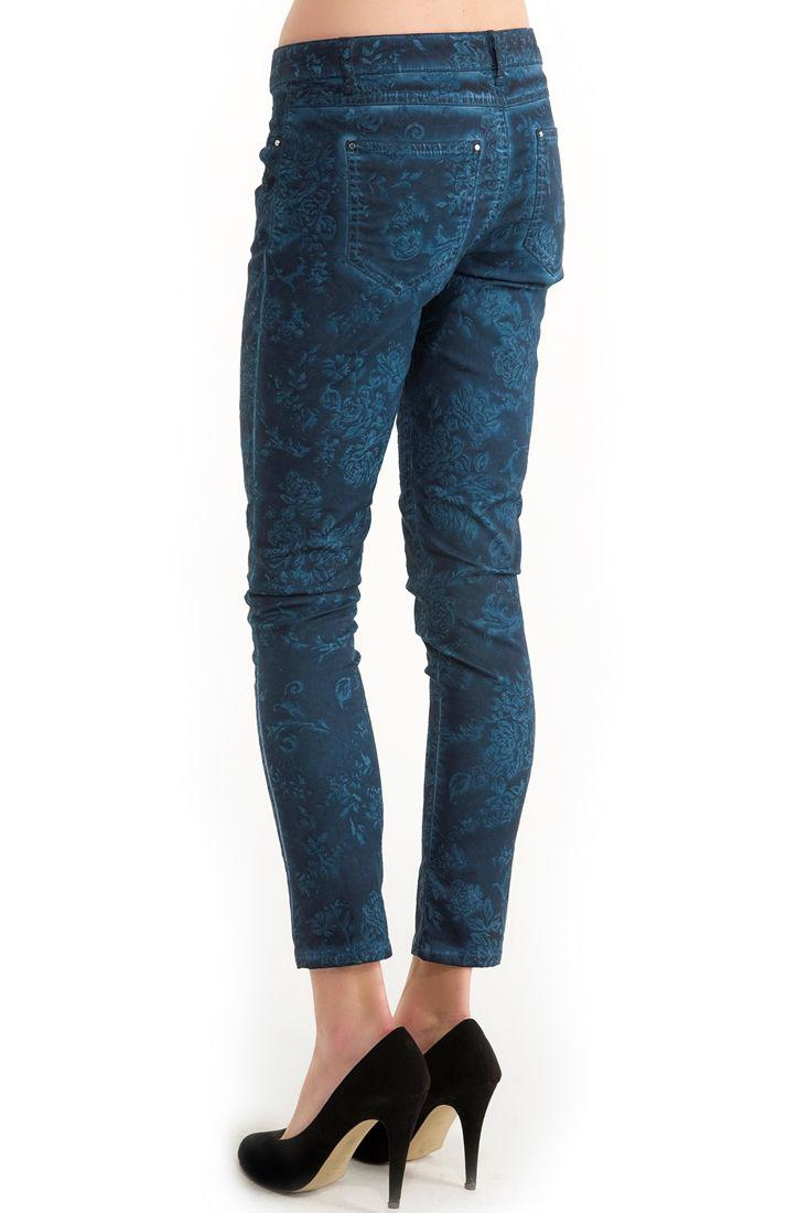 Bayan Mavi Dar Kesim Pantolon