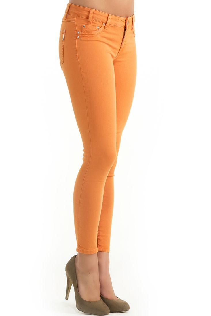 Turuncu Dar Kesim Pantolon