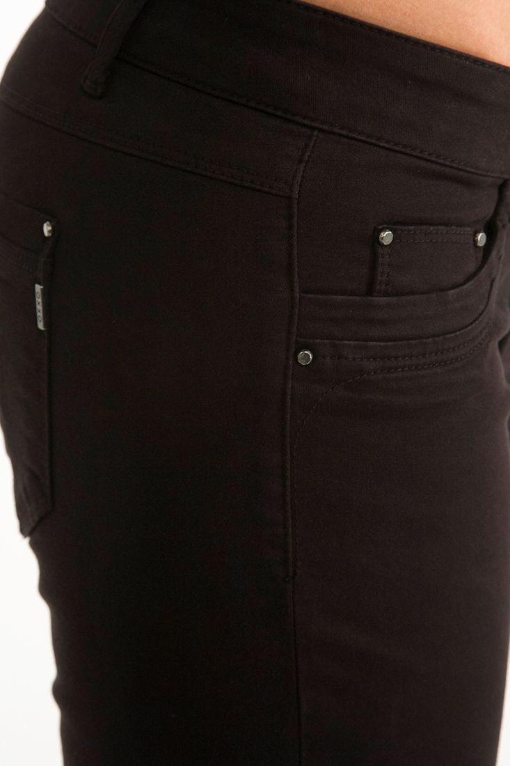 Bayan Siyah Dar Kesim Yıkamalı Pantolon