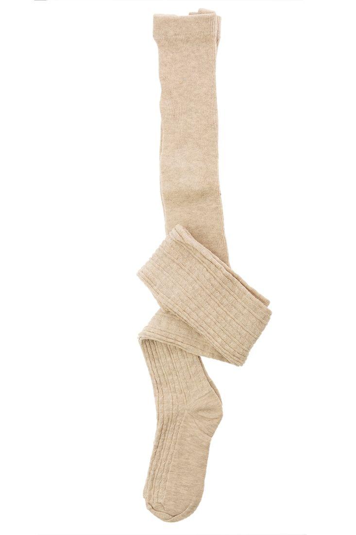 Krem Diz Üstü Çorap