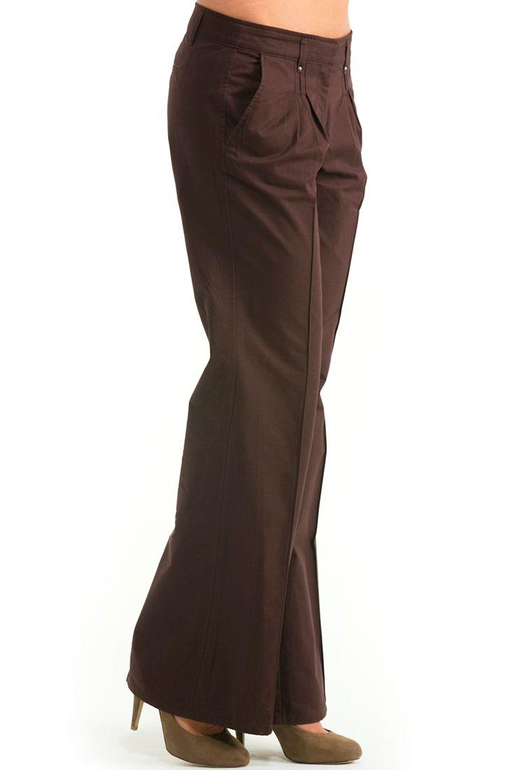 Kırmızı Bol Paça Düşük Bel Pantolon