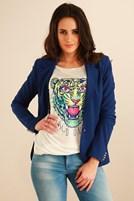 Bayan Mavi Ceket