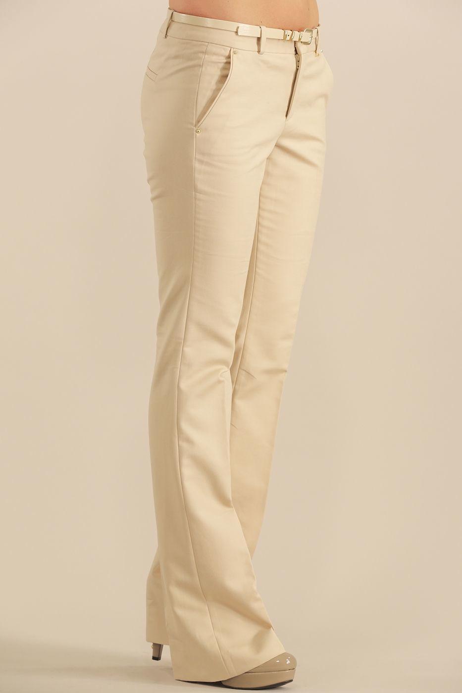 Bayan Krem Kumaş Pantolon