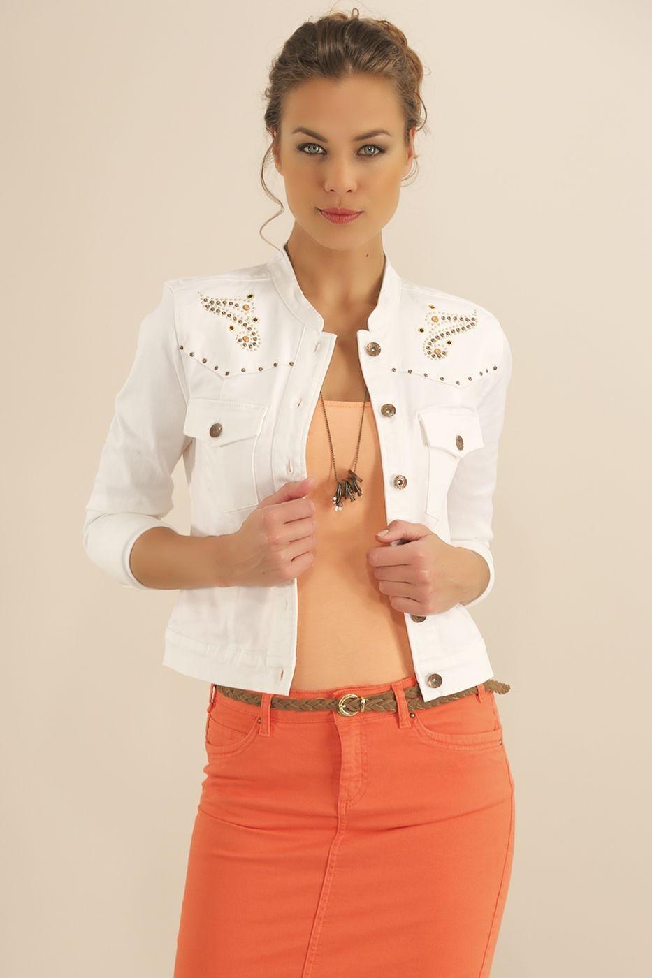 Krem Beyaz Kot Ceket