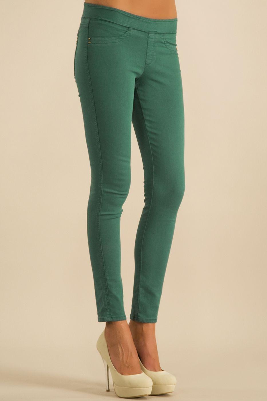 Yeşil Tayt Pantolon