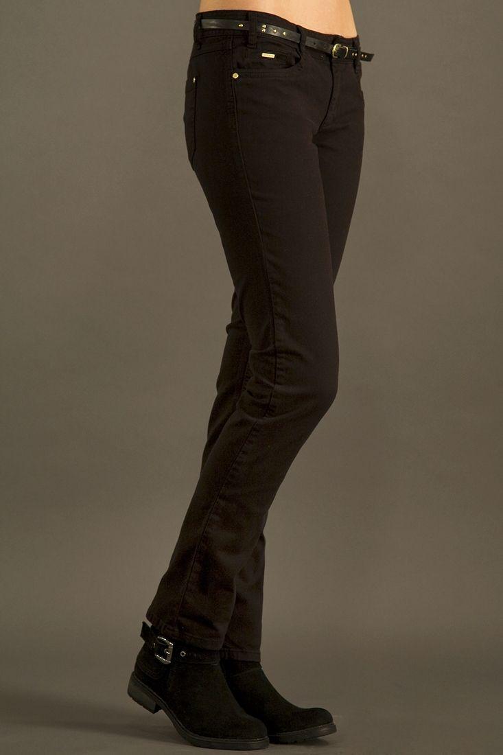 Siyah Dar Kesim Pantolon
