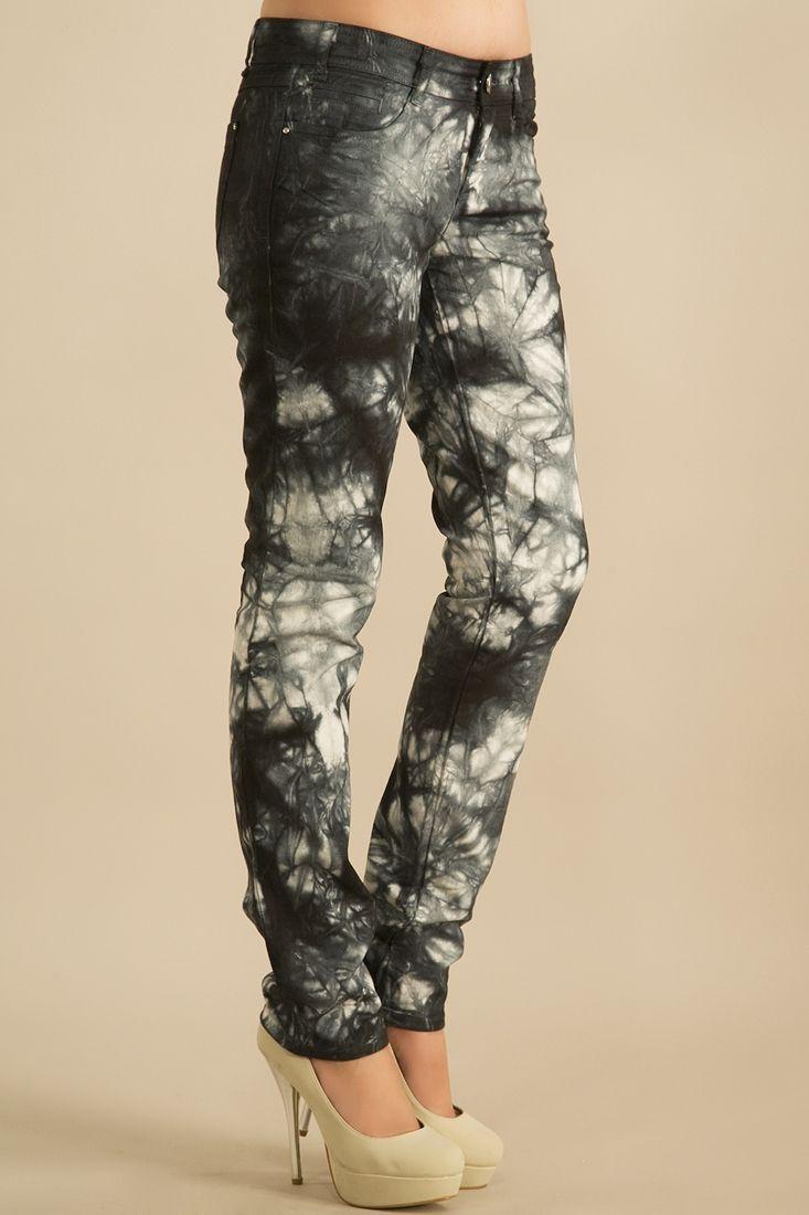 Gümüş Çiçek Desenli Pantolon