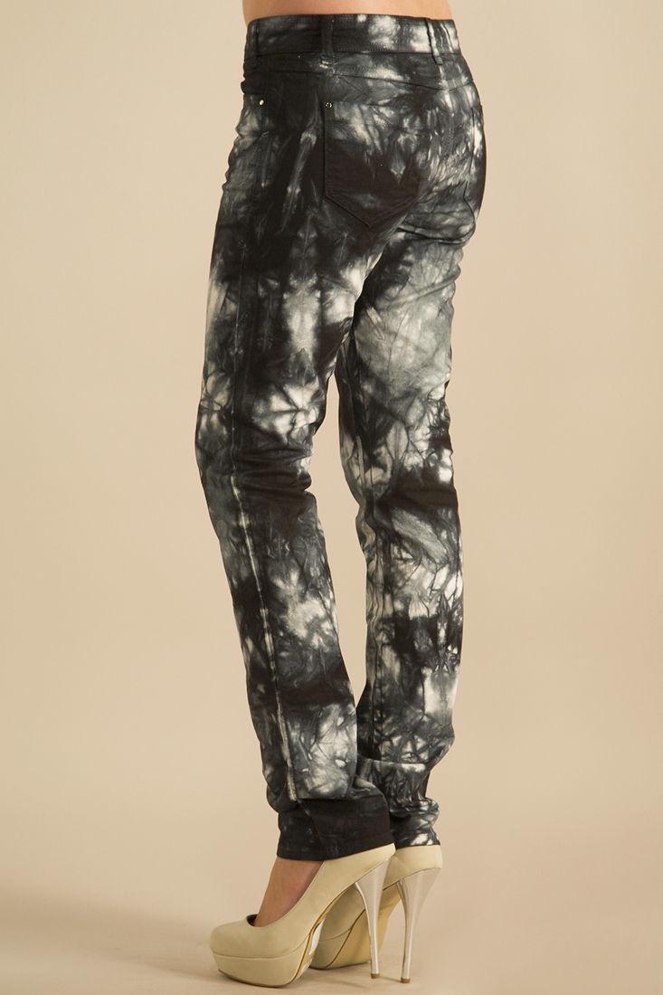 Bayan Gümüş Çiçek Desenli Pantolon