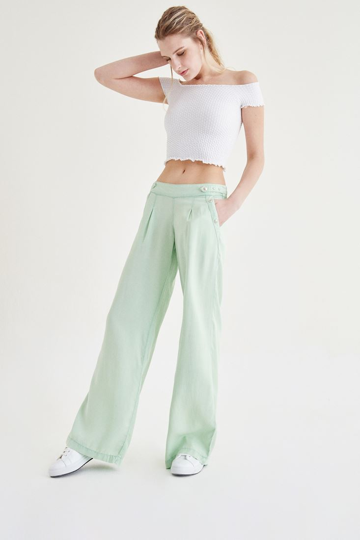 Green Loose Fit Pants