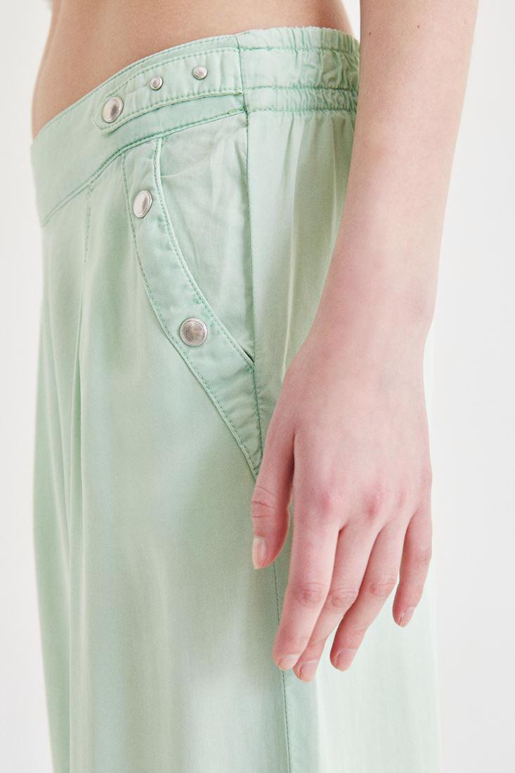 Bayan Yeşil Bol Kesim Pantolon