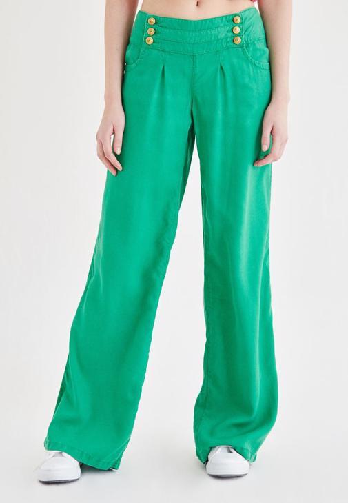 Yeşil Bol Kesim Pantolon
