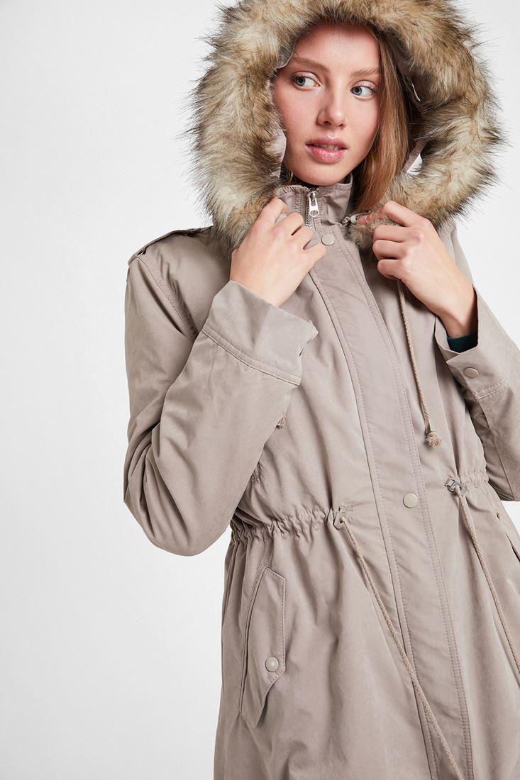 Brown Coat with Hood