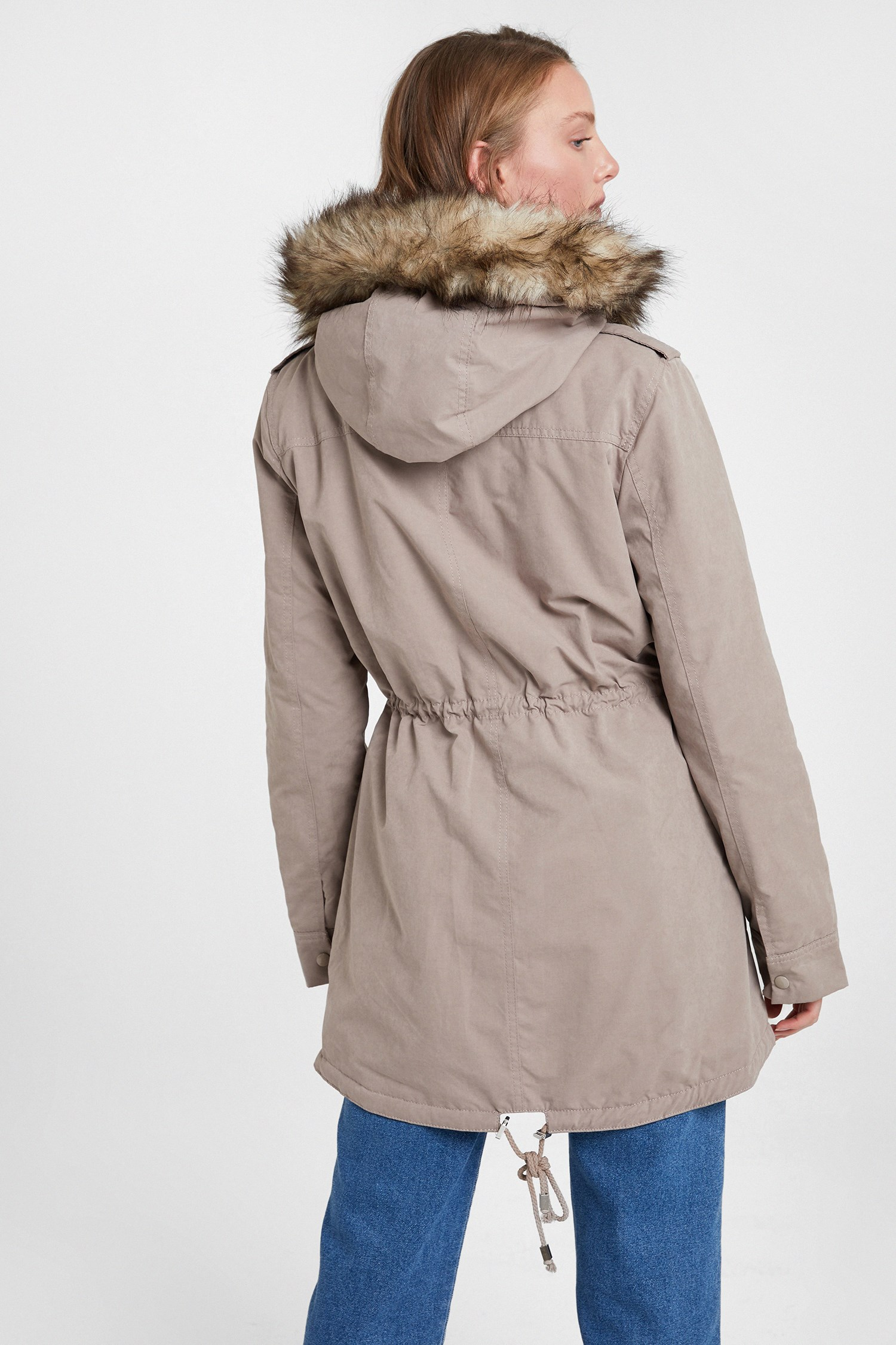 Women Brown Coat with Hood