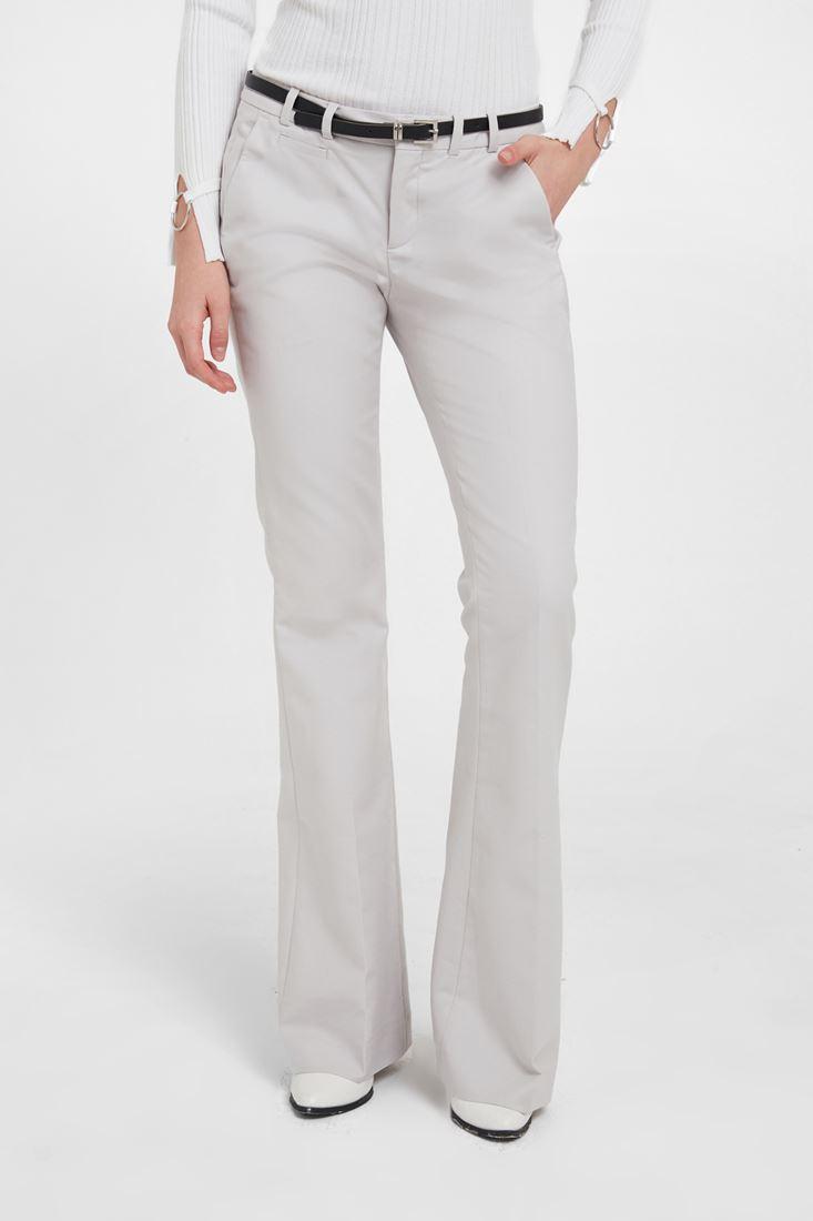 Grey Flare Cut Classic Pants