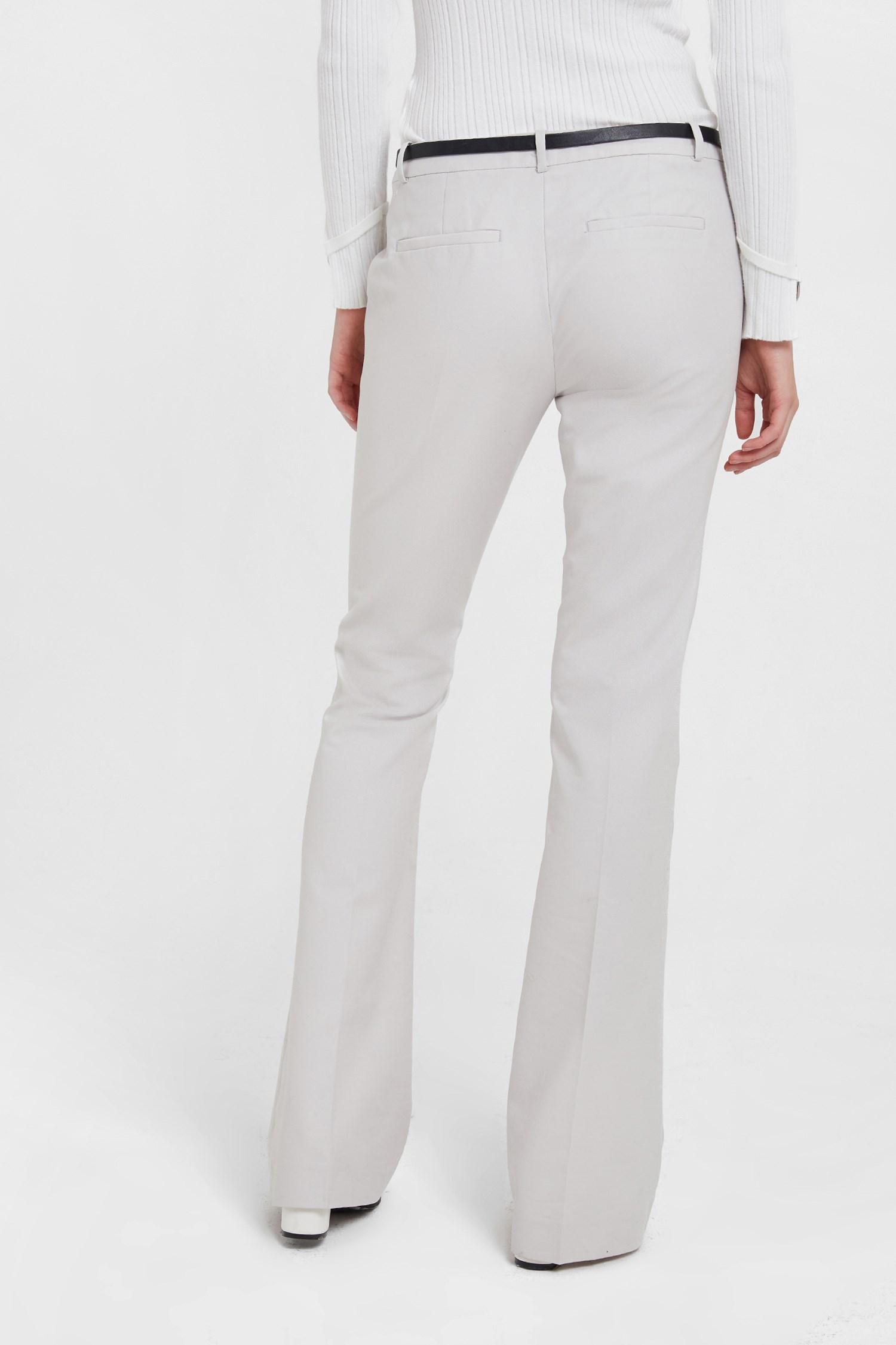Women Grey Flare Cut Classic Pants