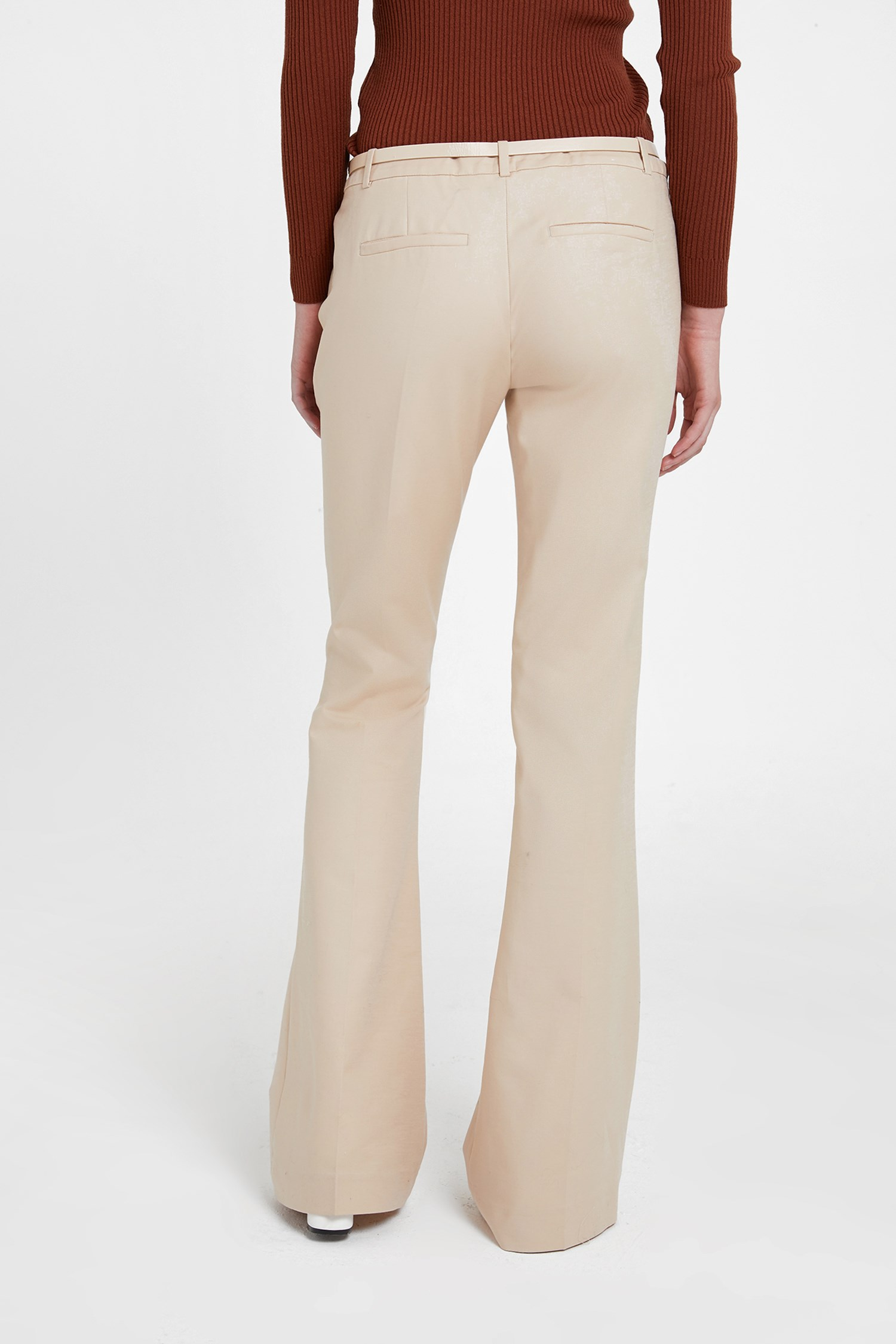 Bayan Krem Geniş Paça Pantolon