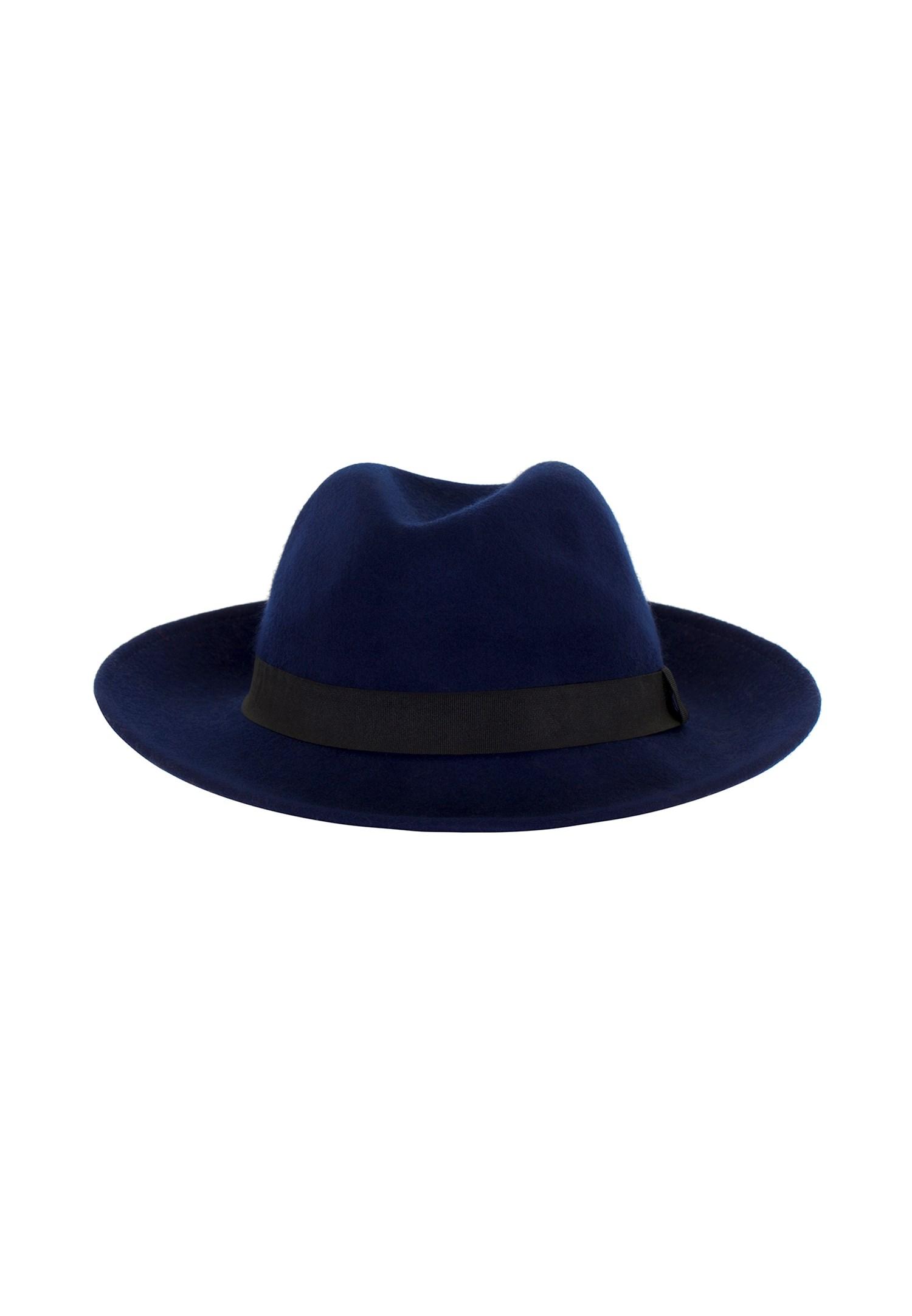 Bayan Mavi Siyah Şeritli Şapka
