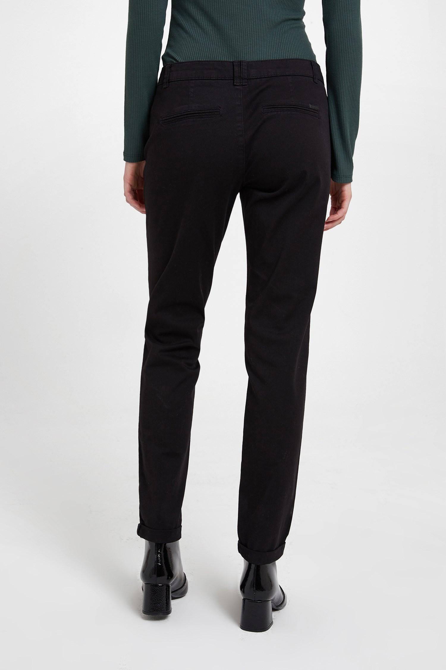 Bayan Siyah Chino Pantolon