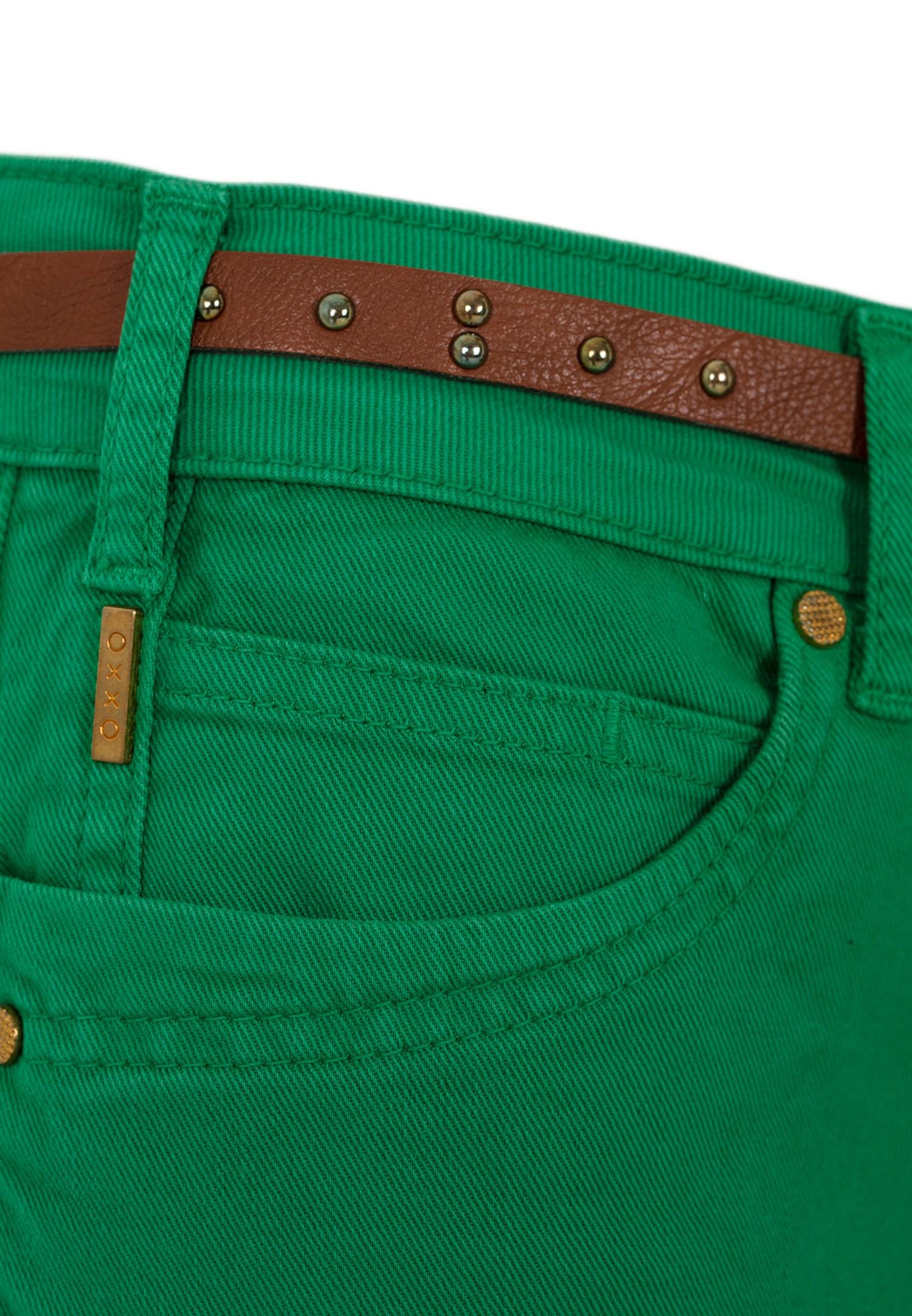 Bayan Yeşil Düşük Bel Bol Paça Pantolon