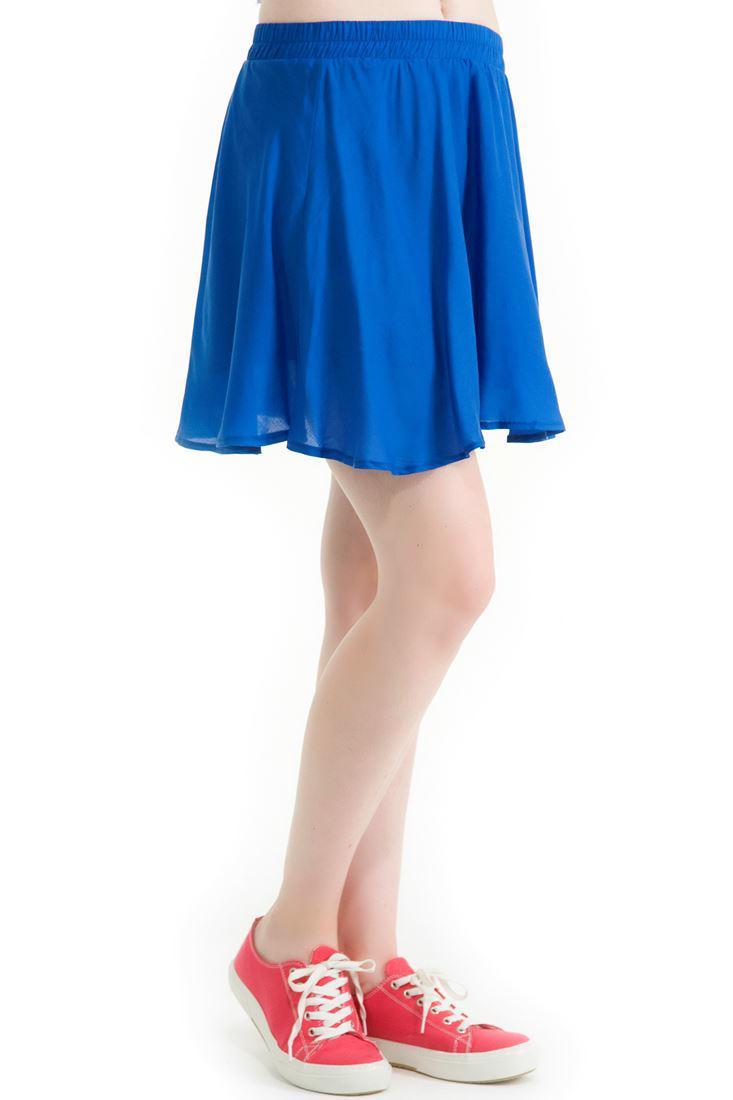 Bayan Mavi Dizüstü Kısa Etek