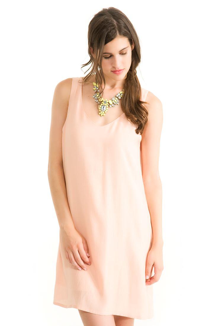 Turuncu Kolsuz Elbise