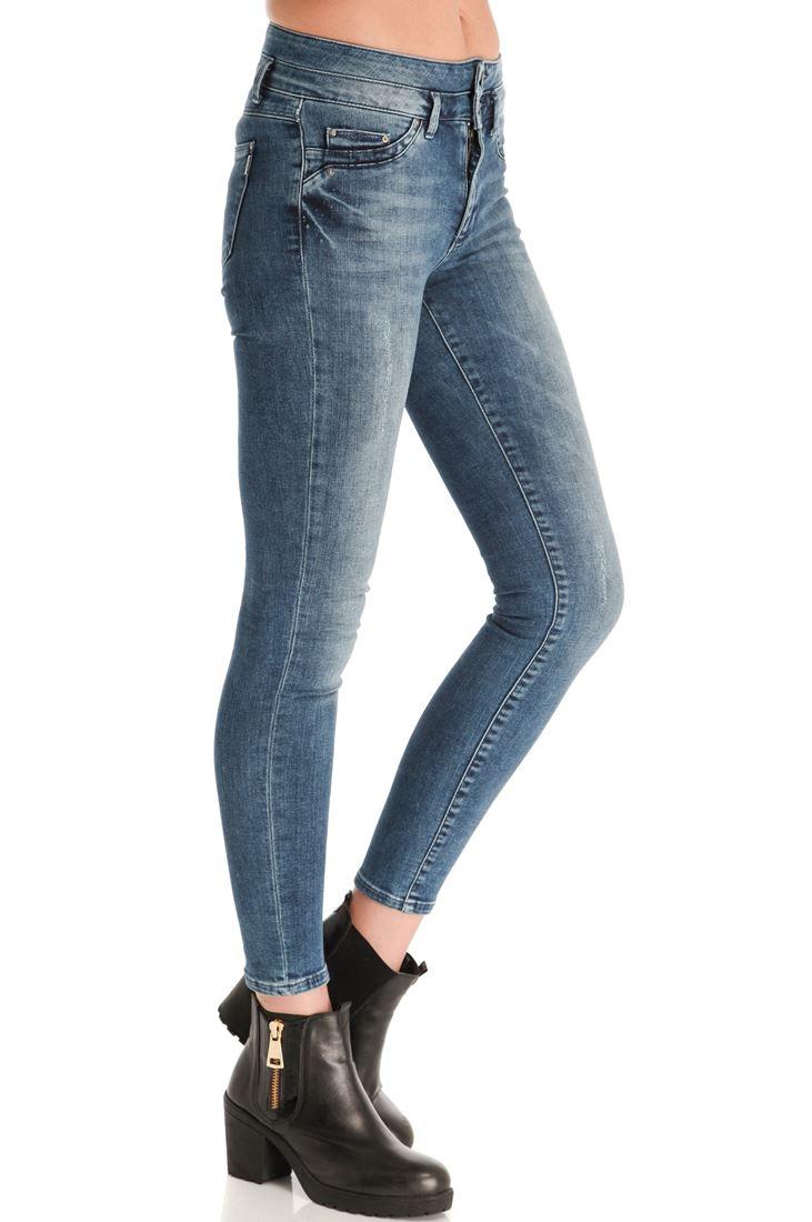 Mavi Yüksek Bel Skınny Denim Pantolon