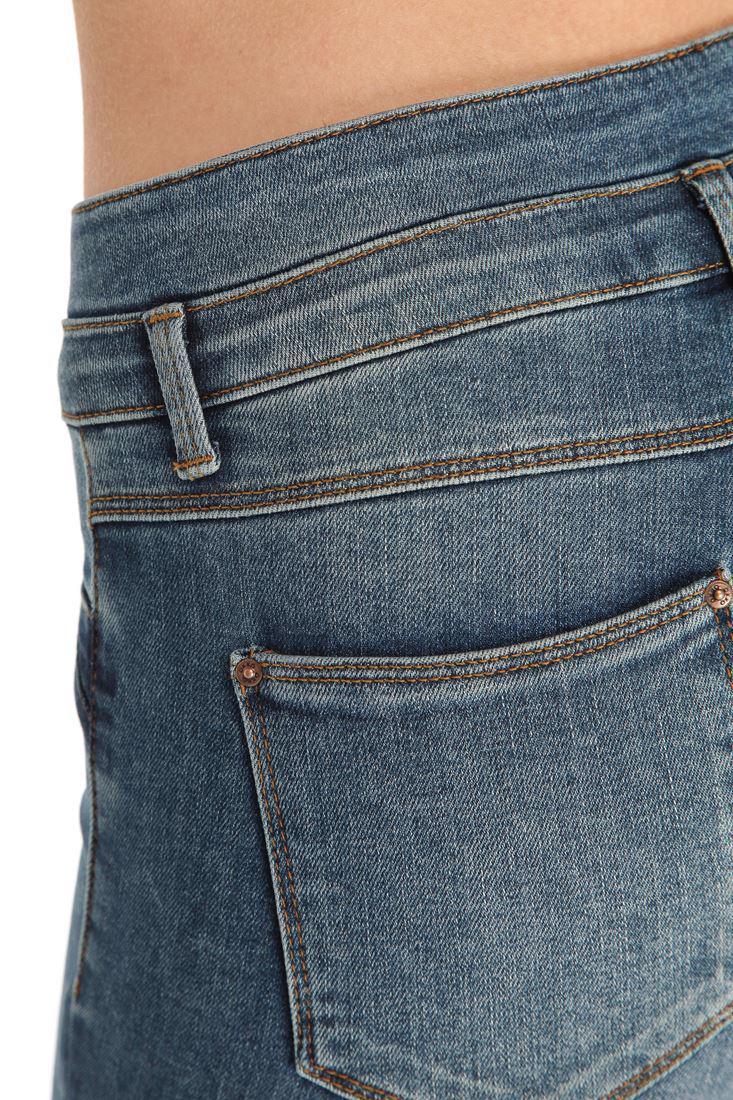 Bayan Mavi Yüksek Bel Skınny Denim Pantolon