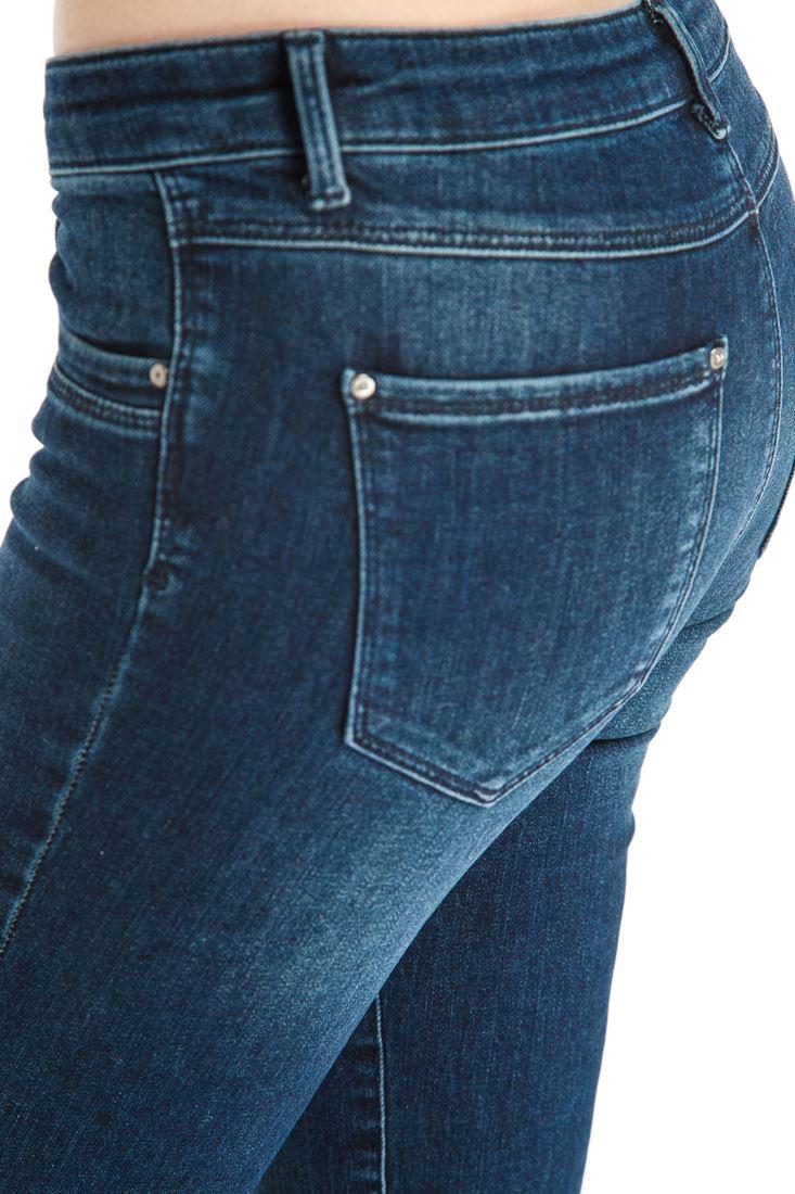 Bayan Mavi Boru Paça Denim Pantolon