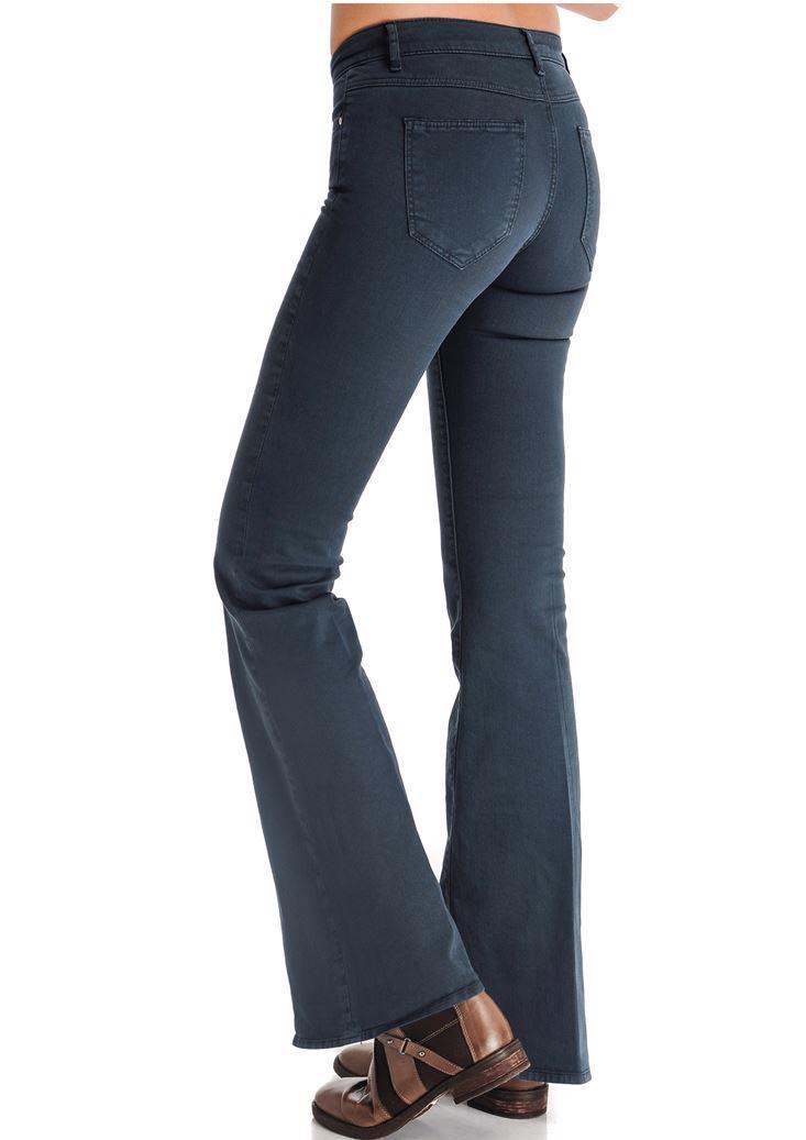 Bayan Gri İspanyol Paça Pantolon