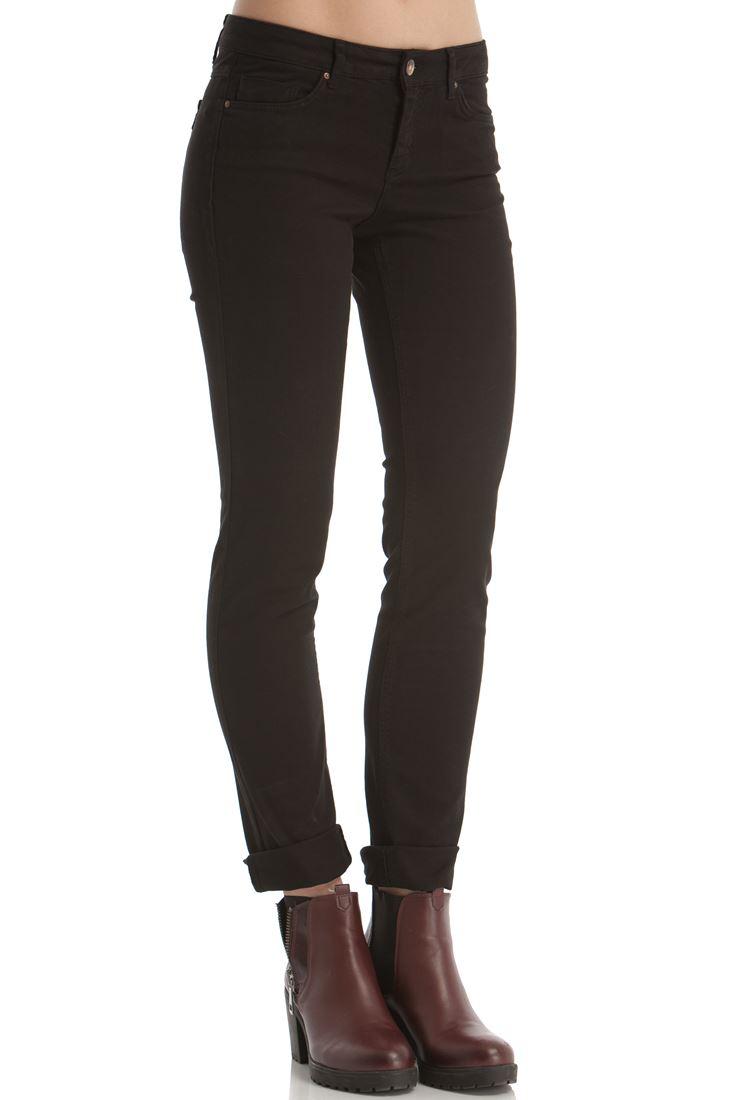 Siyah Boru Paça Esnek Pantolon