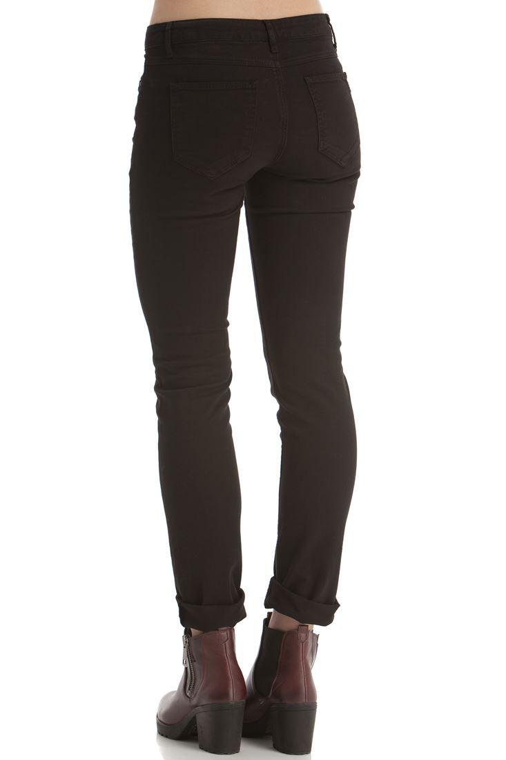 Bayan Siyah Boru Paça Esnek Pantolon