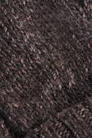 Bayan Kahverengi Saç Örgülü Bere