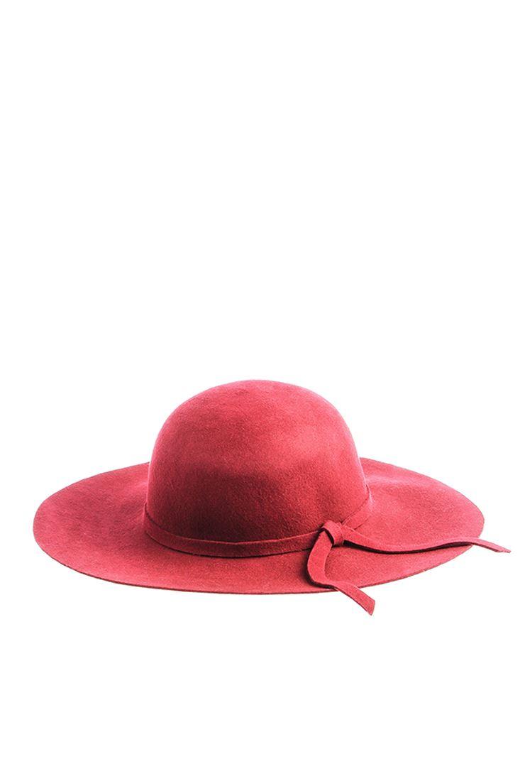 Bordo Fiyonklu Disket Şapka