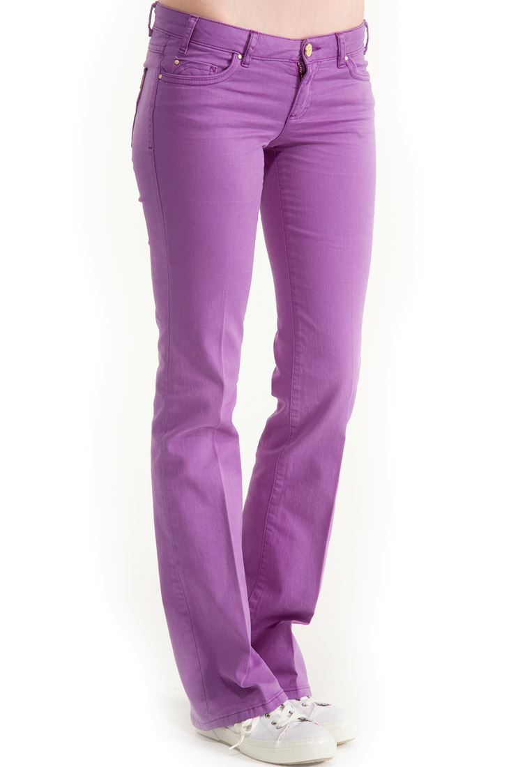 Purple Boot Cut Pants