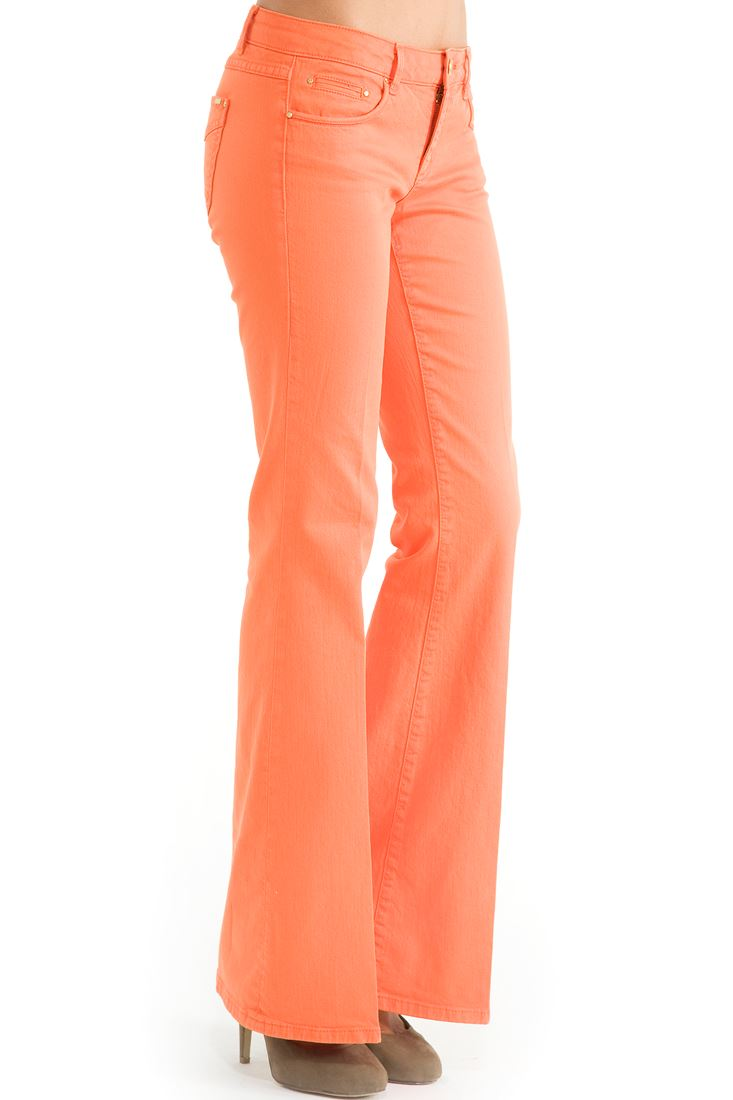 Orange Flare Cut Pants